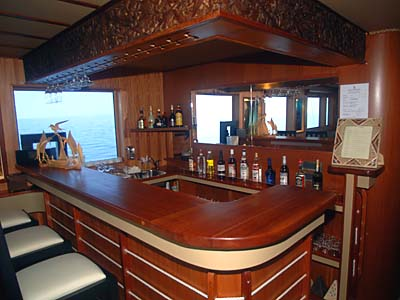 Bar on the M/V Ocean Dancer - Maldives Report and Photos copyright Ken Knezick, Island Dreams