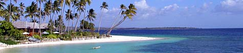 Beautiful beach at Wakatobi Resort, Indonesia