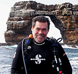 Peter A. Hughes of the M/V Galapagos Sky