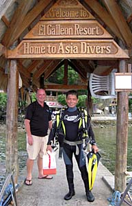 Asia Divers at El Galleon Resort, Puerto Galera