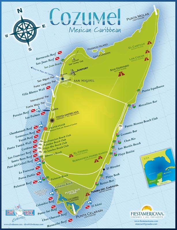 Map Of Cozumel